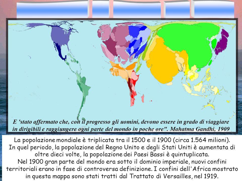 La popolazione mondiale è triplicata tra il 1500 e il 1900 (circa 1.564 milioni). In quel periodo, la popolazione del Regno Unito e degli Stati Uniti