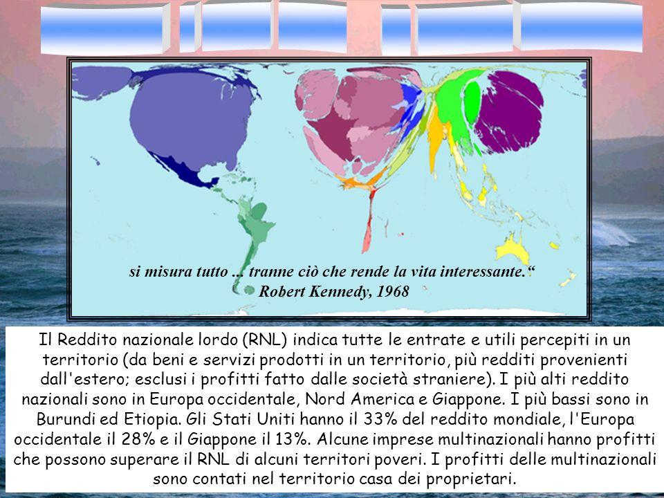 Il Reddito nazionale lordo (RNL) indica tutte le entrate e utili percepiti in un territorio (da beni e servizi prodotti in un territorio, più redditi
