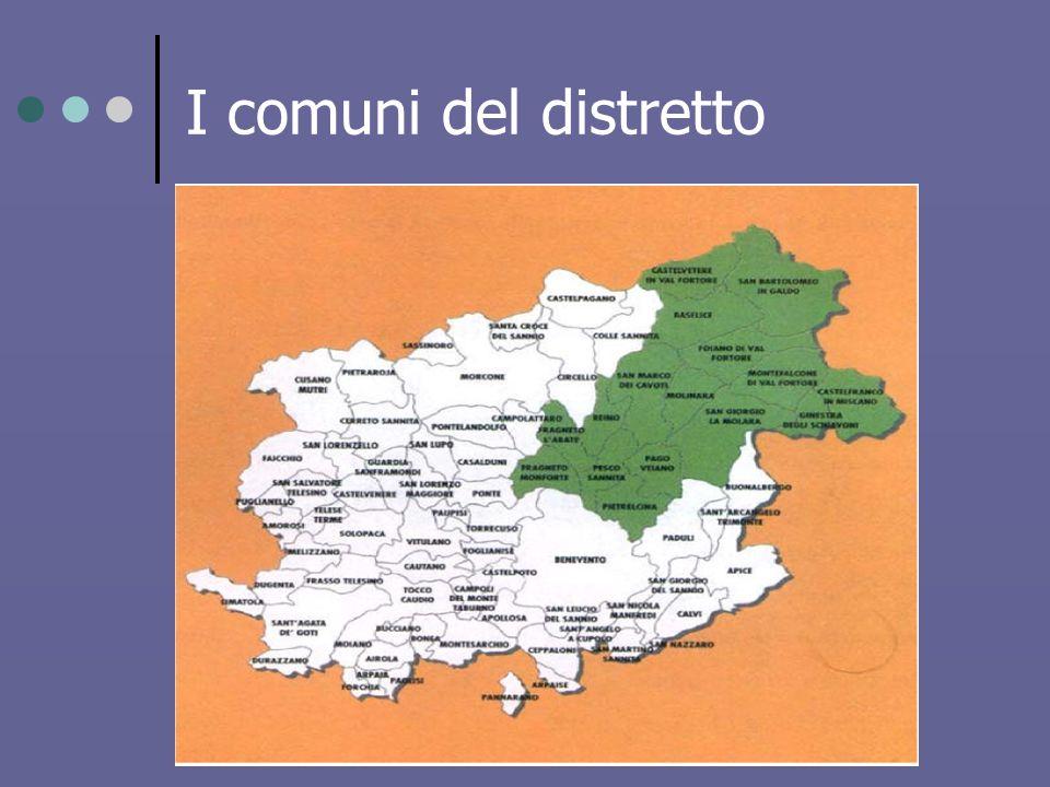 I comuni del distretto