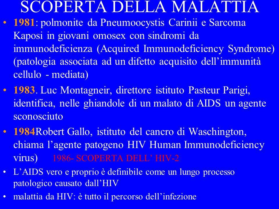 HIV -2 NON HA UNA DIFFFUSIONE MONDIALE E LOCALIZZATO SOLONELLAFRICA DELLOVEST (Cameroon, Costa dAvorio, Senegal) EMENO PATOGENO DELLHIV- 1 PERSONE INFETTATE DA HIV- 2 HANNO MENO PROBABILITADI CONTRARRE HIV-1 (Nb: importante per lo studio del vaccino, basato su ceppi attenuati)