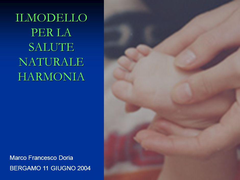 0 BERGAMO 11 GIUGNO 2004 ILMODELLO PER LA SALUTE NATURALE HARMONIA Marco Francesco Doria