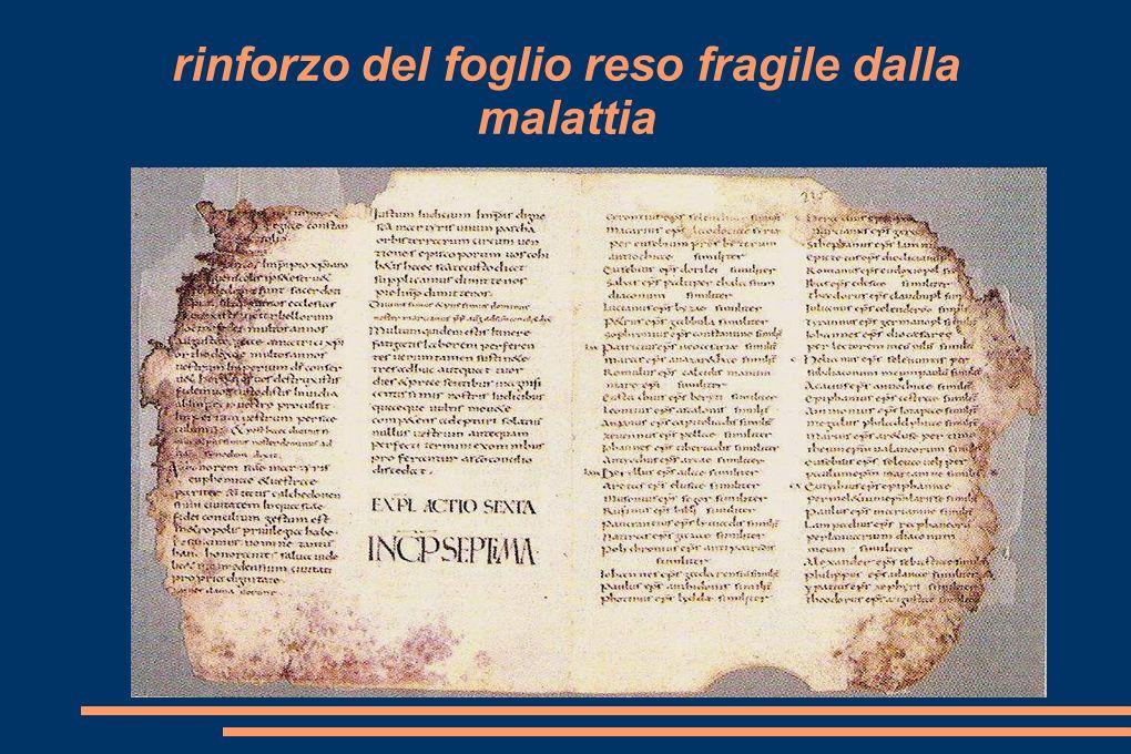 Restauro di un manoscritto: il cod. LVIII CONC. CALCEDONIENSIS ACTA da: La più antica biblioteca d'Europa. La Capitolare di Verona, Verona 1986, p. 86