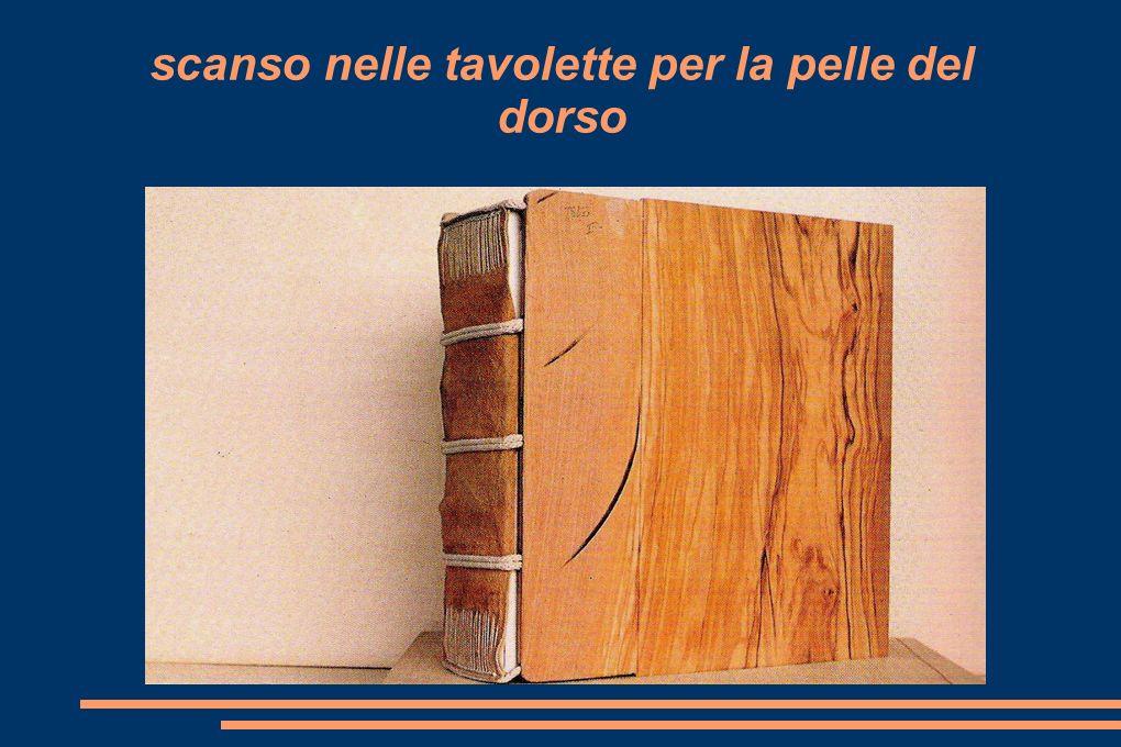 nervi e capitelli innestati alla tavoletta di legno