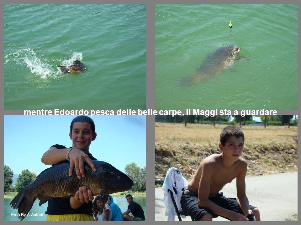 mentre Edoardo pesca delle belle carpe, il Maggi sta a guardare Foto By A.Antoni