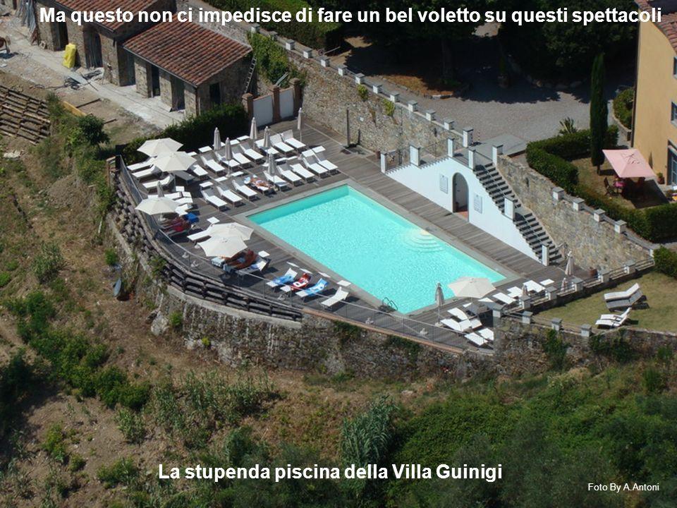 La stupenda piscina della Villa Guinigi Ma questo non ci impedisce di fare un bel voletto su questi spettacoli Foto By A.Antoni