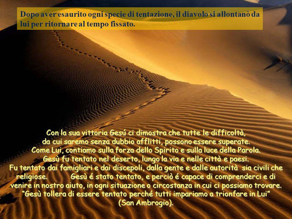 Con la sua vittoria Gesú ci dimostra che tutte le difficoltà, da cui saremo senza dubbio afflitti, possono essere superate.