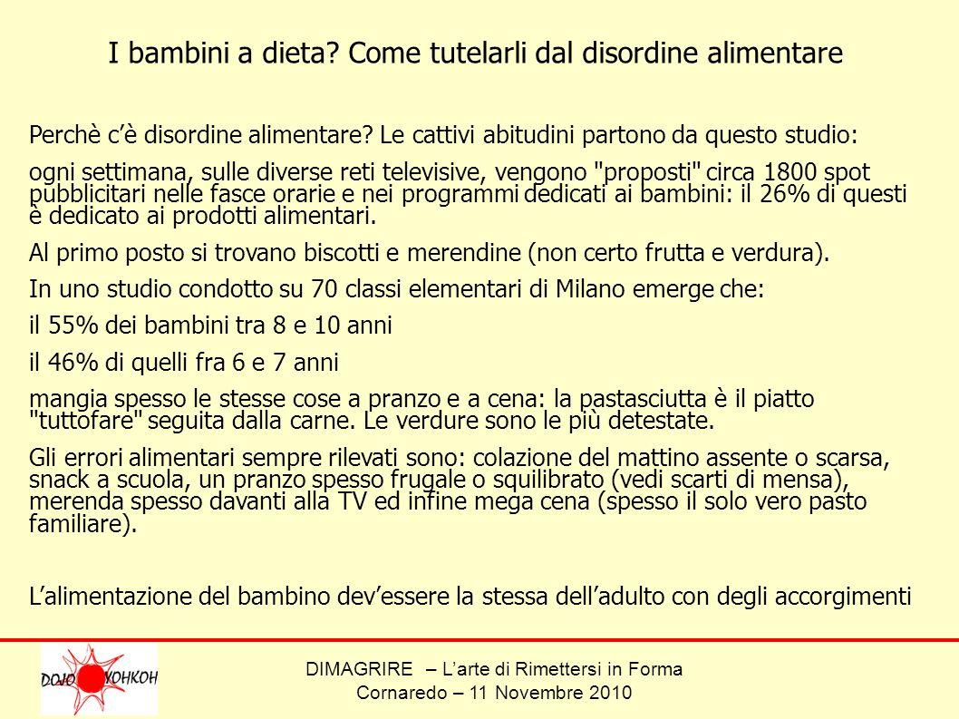 DIMAGRIRE – Larte di Rimettersi in Forma Cornaredo – 11 Novembre 2010 Scritto redatto da Marcello Furnari Istruttore BODY TONE – Acsd Dojo Yohkoh Cornaredo www.palestracornaredo.it