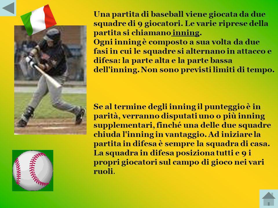 INTRODUZIONE: Il baseball è uno sport di squadra molto popolare negli Stati Uniti dAmerica, Canada, America latina, Giappone e Asia orientale, svilupp
