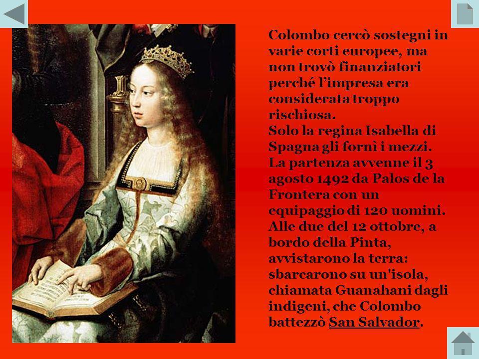 ETA MODERNA. Tra i tanti italiani al servizio delle monarchie atlantiche, spicca la figura di Cristoforo Colombo. Il suo approdo nel continente americ