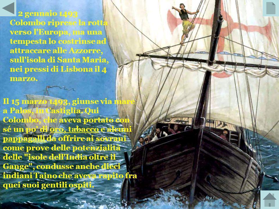 La sera del 27 ottobre 1492, le caravelle di Colombo arrivano allisola di Cayo Bariay a Cuba. Il giorno successivo inviò il suo ammiraglio ad esplorar