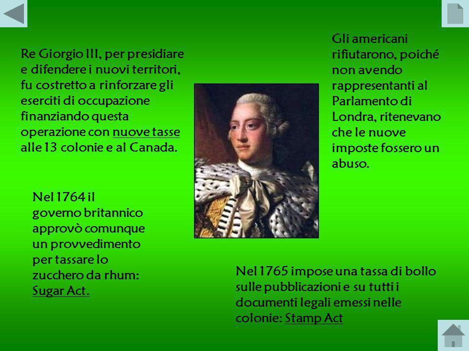 Con la vittoriosa Guerra dei Sette anni (1756-1763) la Gran Bretagna acquisì diversi territori coloniali: in America la guerra volse a favore dei brit