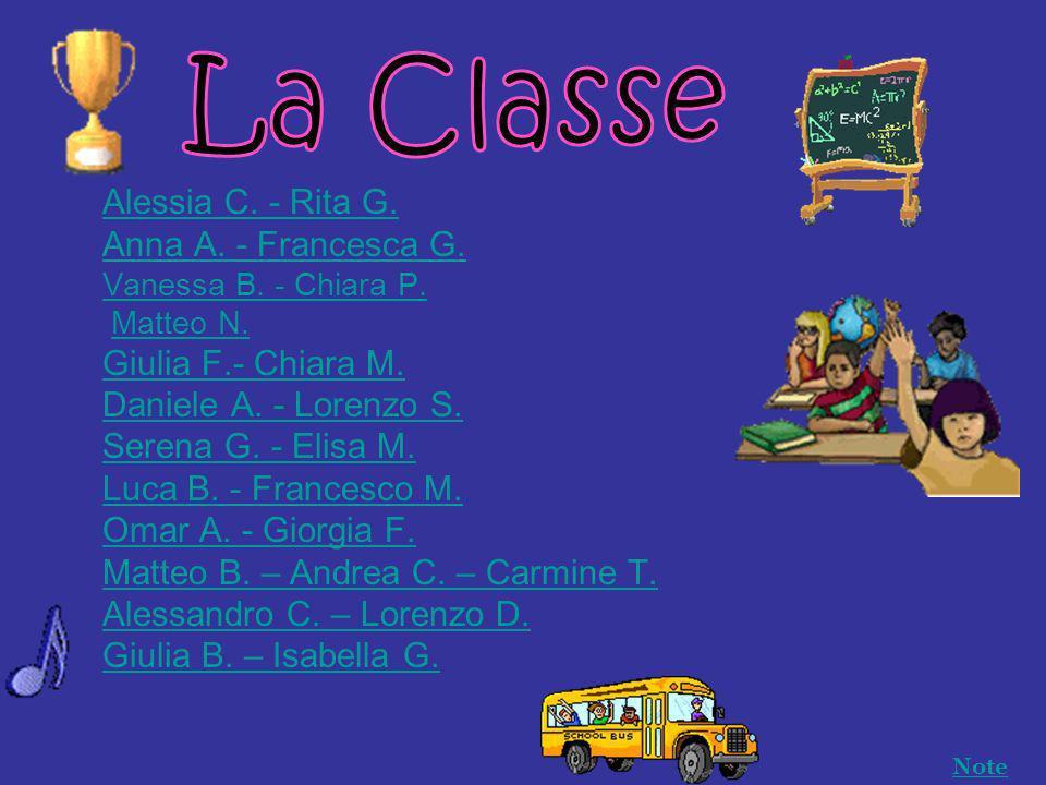 Alessia C.- Rita G. Anna A. - Francesca G. Vanessa B.