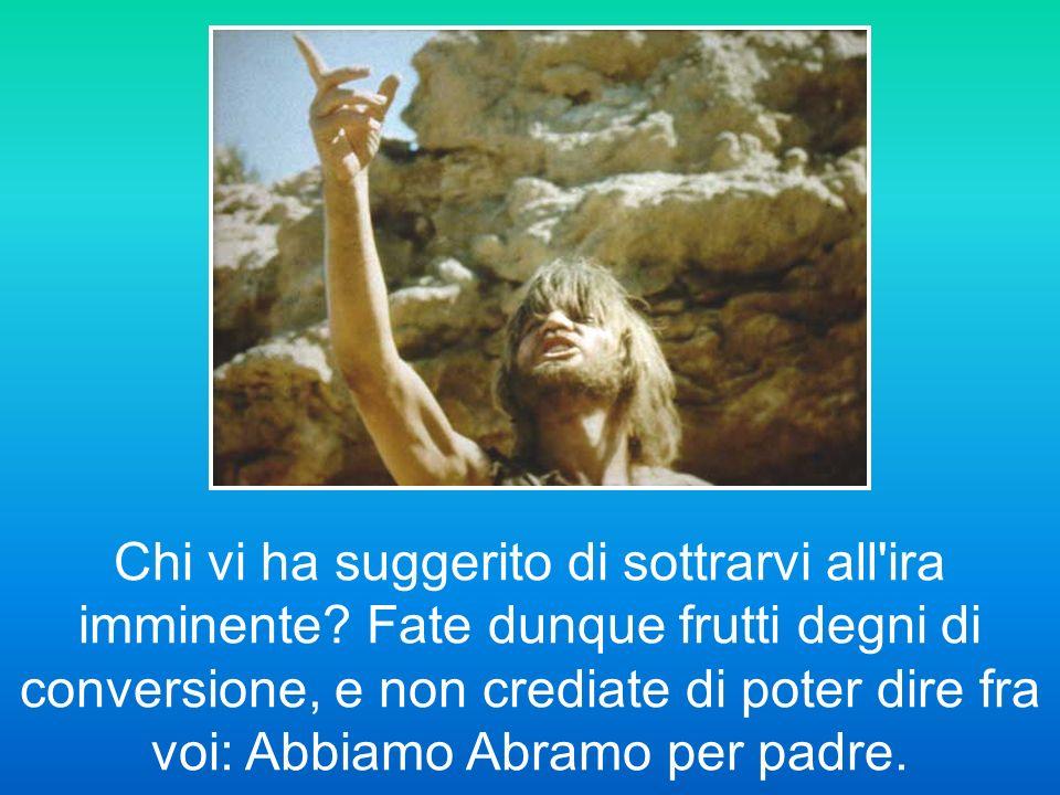 Vedendo però molti farisei e sadducei venire al suo battesimo, disse loro: «Razza di vipere!