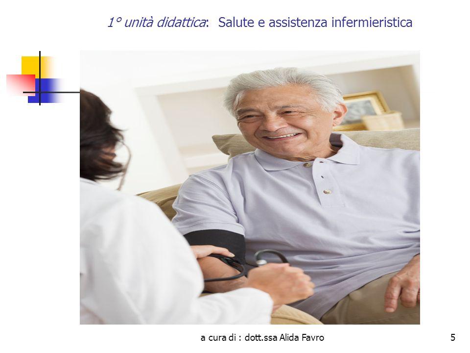 a cura di : dott.ssa Alida Favro5 1° unità didattica: Salute e assistenza infermieristica