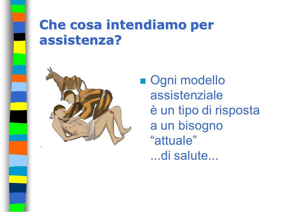 Che cosa intendiamo per assistenza? n Ogni modello assistenziale è un tipo di risposta a un bisogno attuale...di salute...