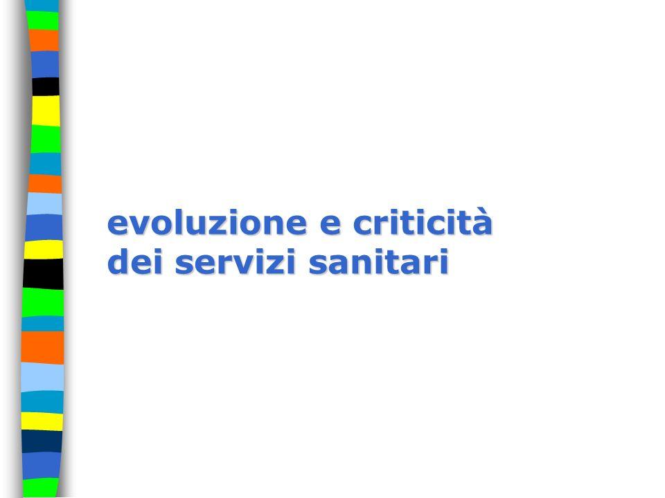 evoluzione e criticità dei servizi sanitari