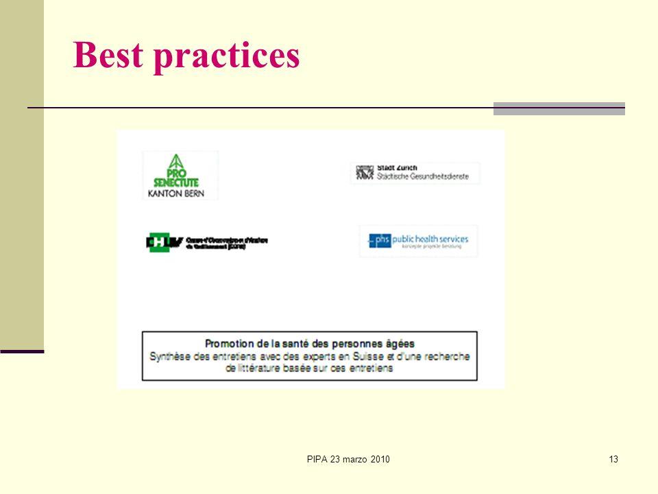 PIPA 23 marzo 201013 Best practices