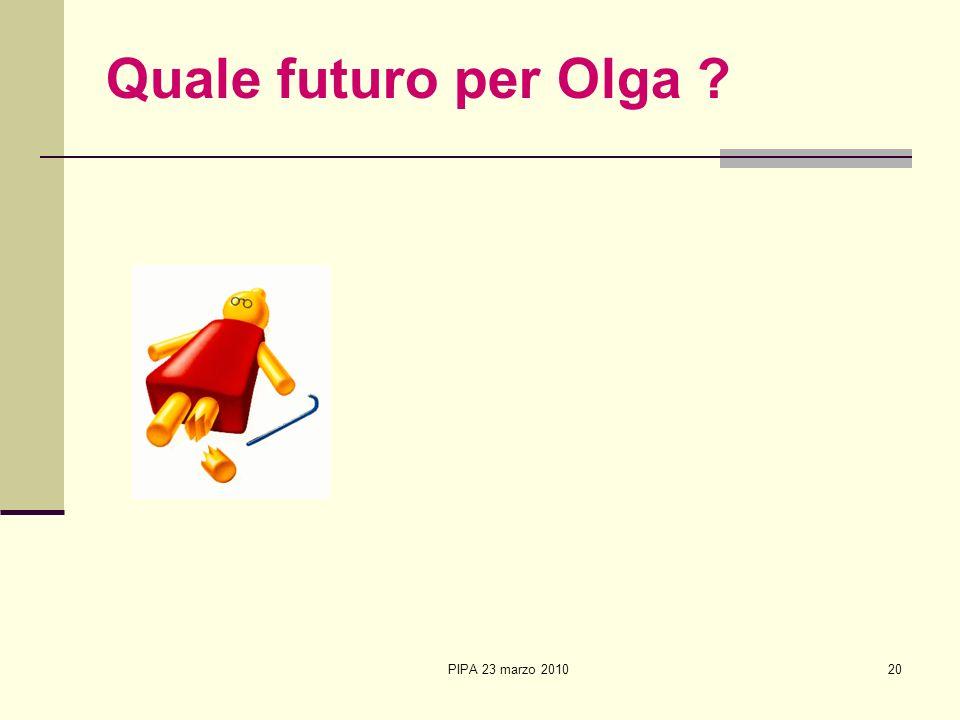 PIPA 23 marzo 201020 Quale futuro per Olga ?