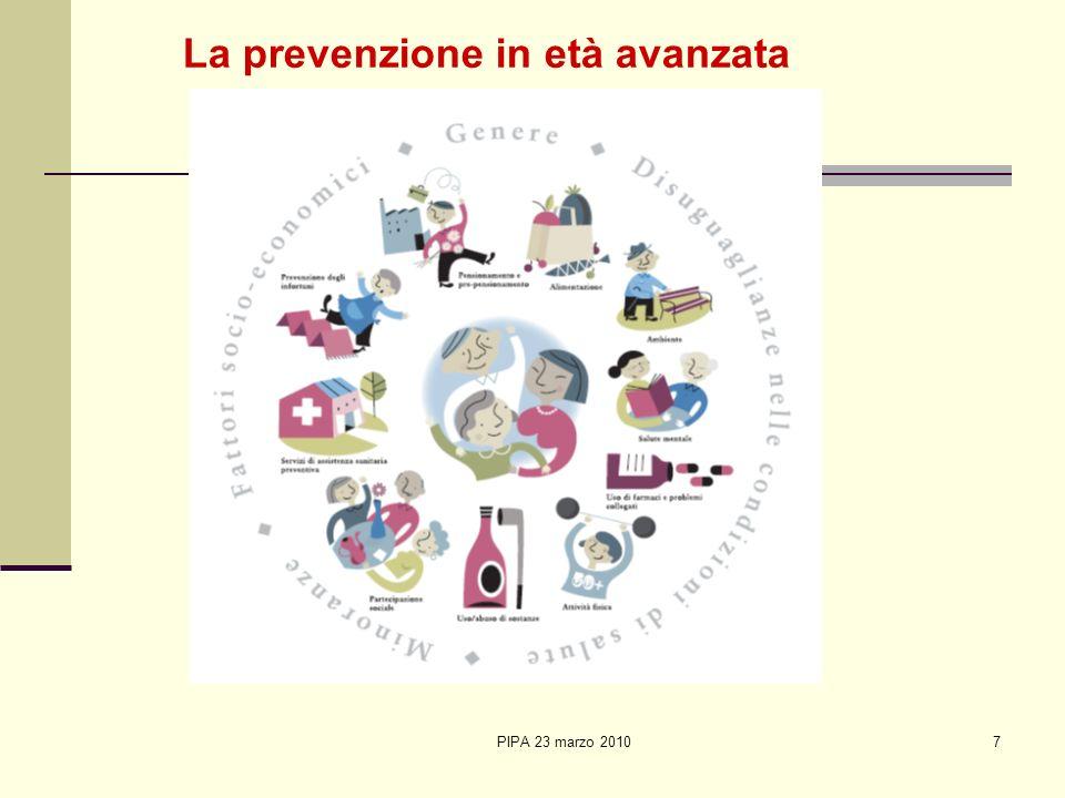 PIPA 23 marzo 20107 La prevenzione in età avanzata