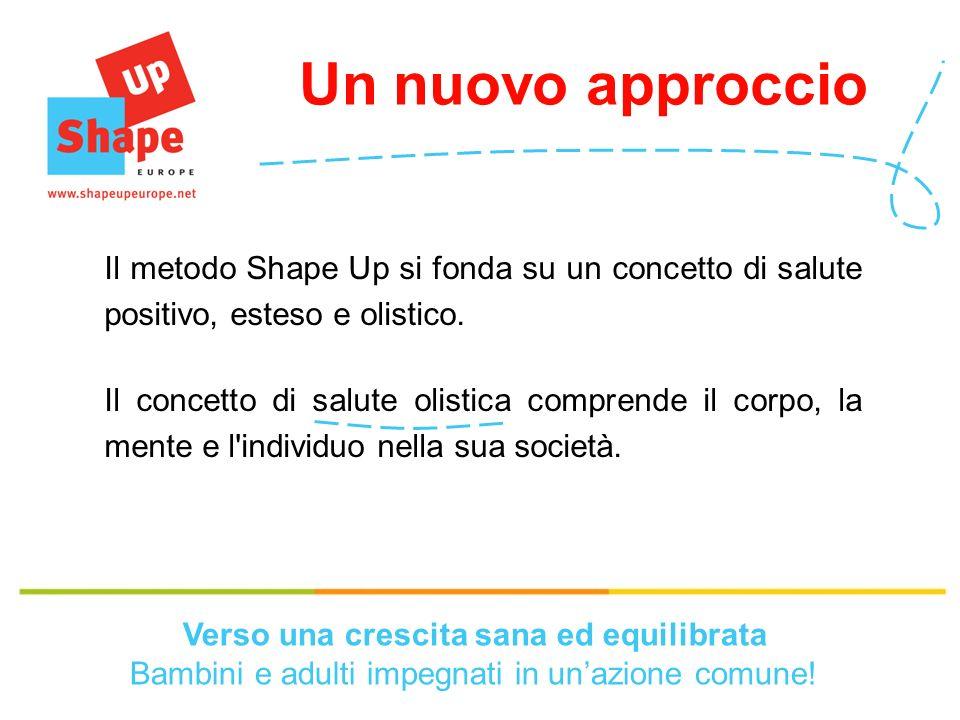 Un nuovo approccio Il metodo Shape Up si fonda su un concetto di salute positivo, esteso e olistico.