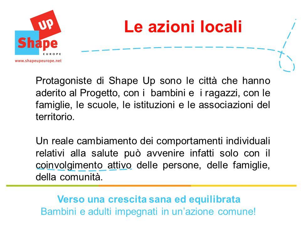Le azioni locali Verso una crescita sana ed equilibrata Bambini e adulti impegnati in unazione comune.