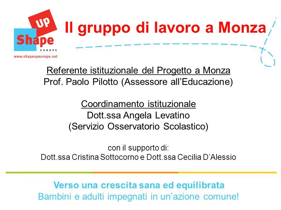 Referente istituzionale del Progetto a Monza Prof.