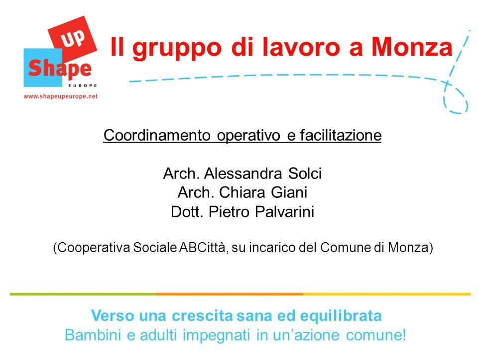 Coordinamento operativo e facilitazione Arch.Alessandra Solci Arch.