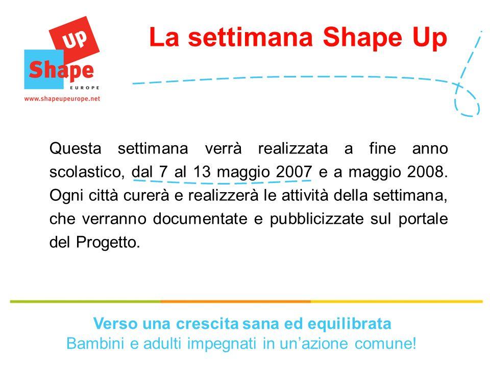 Questa settimana verrà realizzata a fine anno scolastico, dal 7 al 13 maggio 2007 e a maggio 2008.