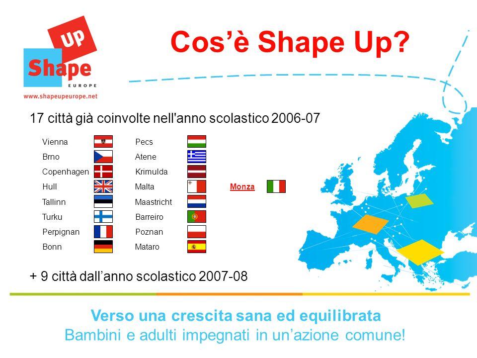 17 città già coinvolte nell anno scolastico 2006-07 Cosè Shape Up.