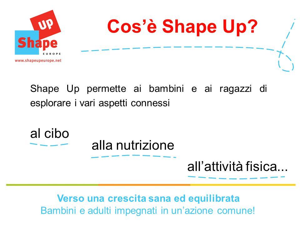 allattività fisica...alla nutrizione al cibo Cosè Shape Up.