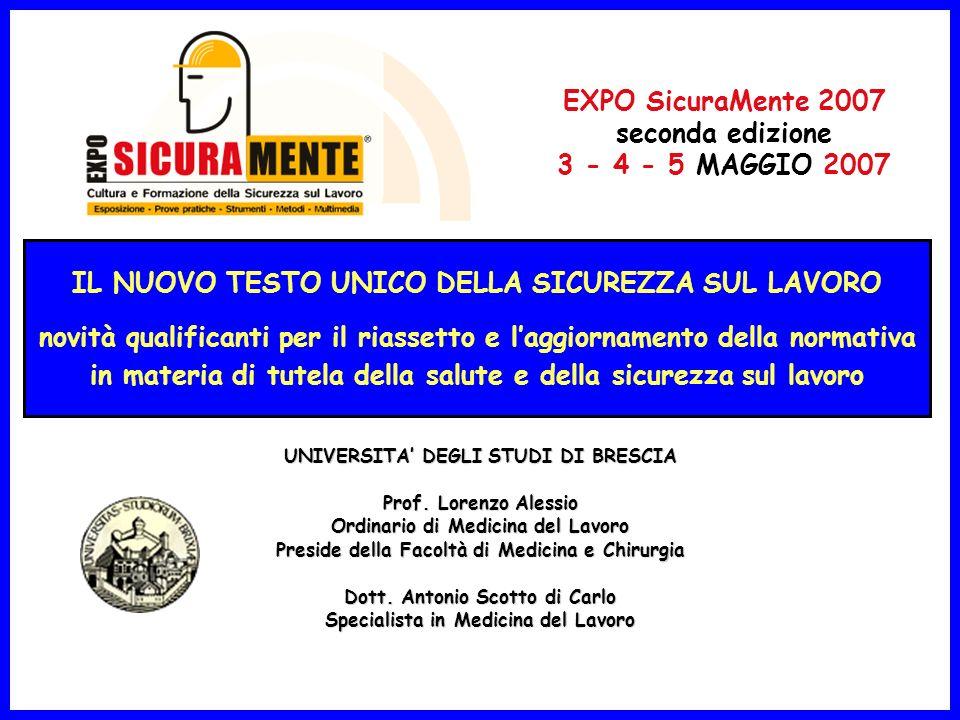 MALATTIE PROFESSIONALI manifestatesi nel periodo 2001-2005 e denunciate allINAIL Dati INAIL -Italia- GESTIONE20012002200320042005 Industria e Servizi2713425454238272499724738 Agricoltura9691033108210761284 Dipendenti Conto Stato257263227278310 TOTALE2836026750251362635126332 INFORTUNI SUL LAVORO avvenuti nel periodo 2003-2005 e denunciati allINAIL ANNI TOTALE INFORTUNIINFORTUNI MORTALI Industria e Servizi Agricoltura Dipendenti Stato Totale Industria e Servizi Agricoltura Dipendenti Stato Totale 200388024271374255739771941308129121449 200486943969263280279667291137175161328 200584485266286284289395661065127141206 20061155114111280