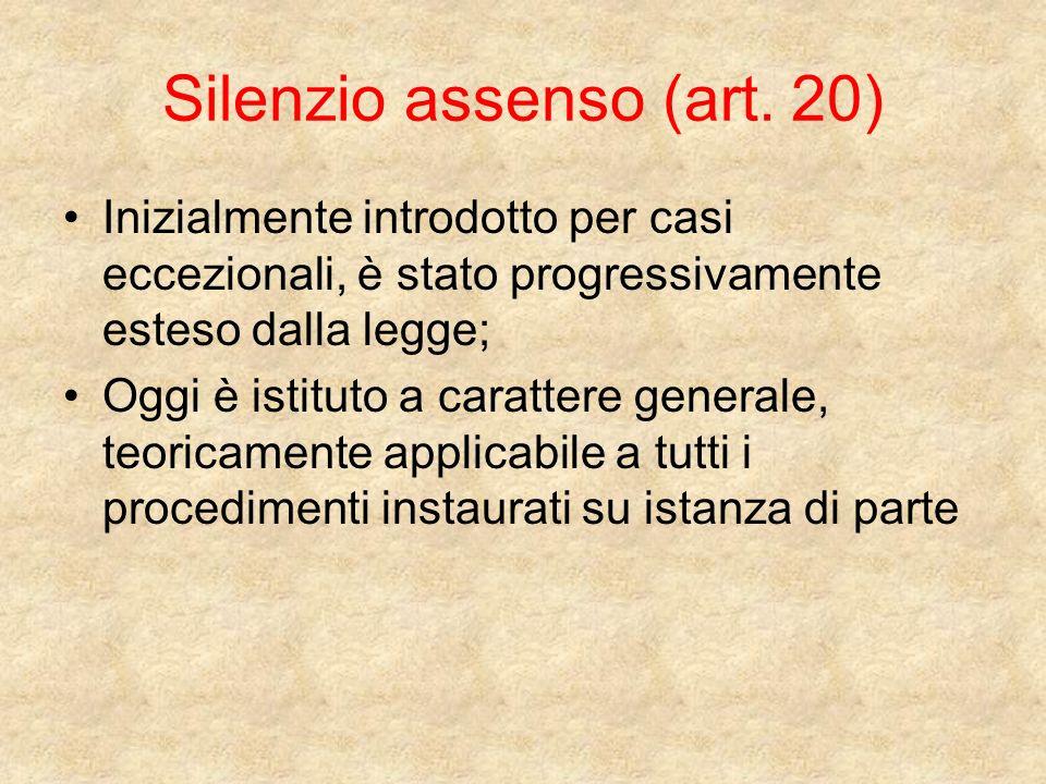 Silenzio assenso (art.