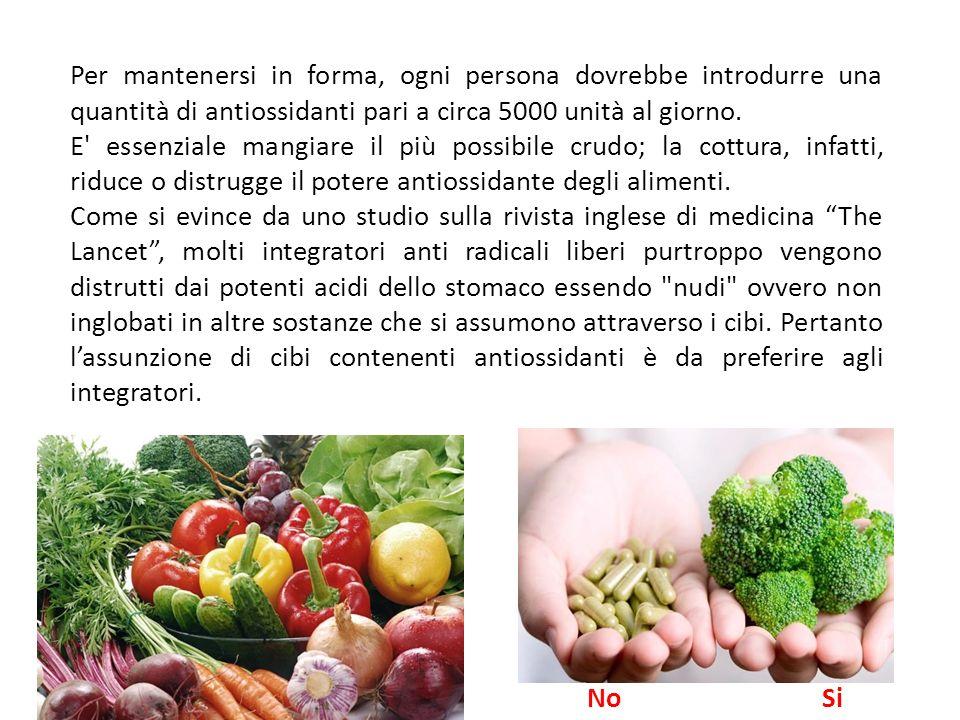 Per cercare di quantificare il potere antiossidante degli alimenti il dipartimento dell'agricoltura americano ha elaborato la scala ORAC, basata sulla