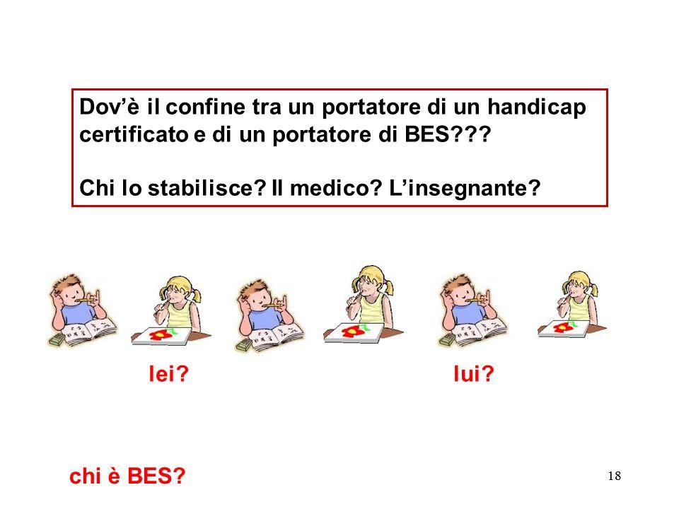 19 Dovè il confine tra un portatore di un handicap certificato e di un portatore di BES??.