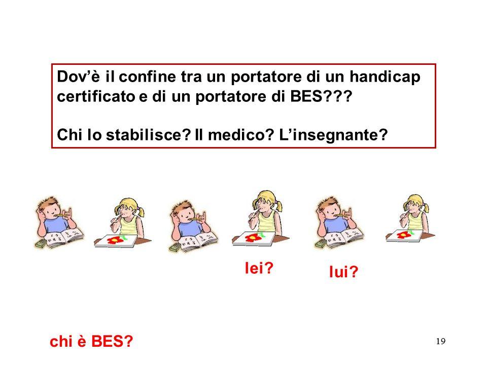 20 Dovè il confine tra un portatore di un handicap certificato e di un portatore di BES??.