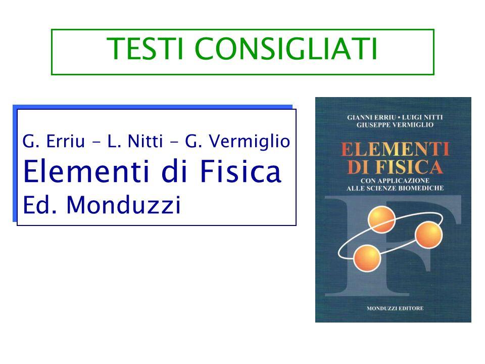 G. Erriu - L. Nitti - G. Vermiglio Elementi di Fisica Ed. Monduzzi G. Erriu - L. Nitti - G. Vermiglio Elementi di Fisica Ed. Monduzzi TESTI CONSIGLIAT