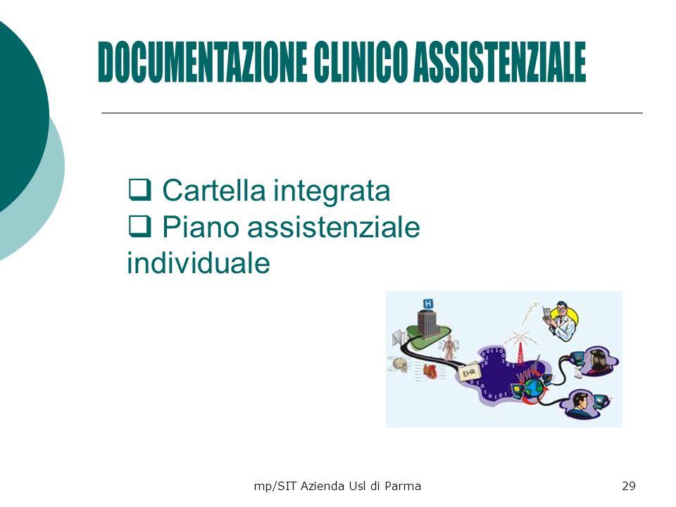mp/SIT Azienda Usl di Parma29 Cartella integrata Piano assistenziale individuale