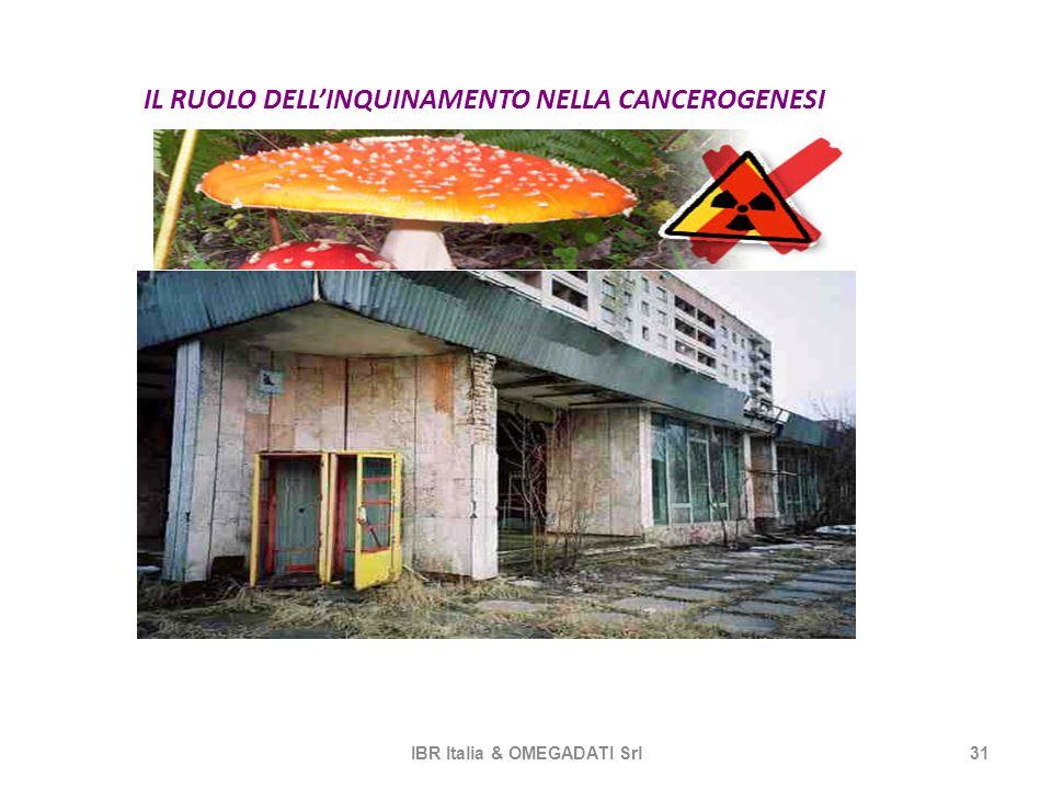 IL RUOLO DELLINQUINAMENTO NELLA CANCEROGENESI IBR Italia & OMEGADATI Srl31 r CCHERNOBIL