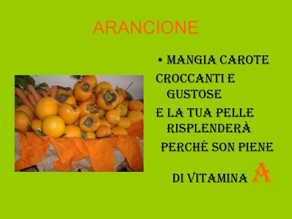 ARANCIONE Mangia carote croccanti e gustose e la tua pelle risplenderà perché son piene di vitamina A
