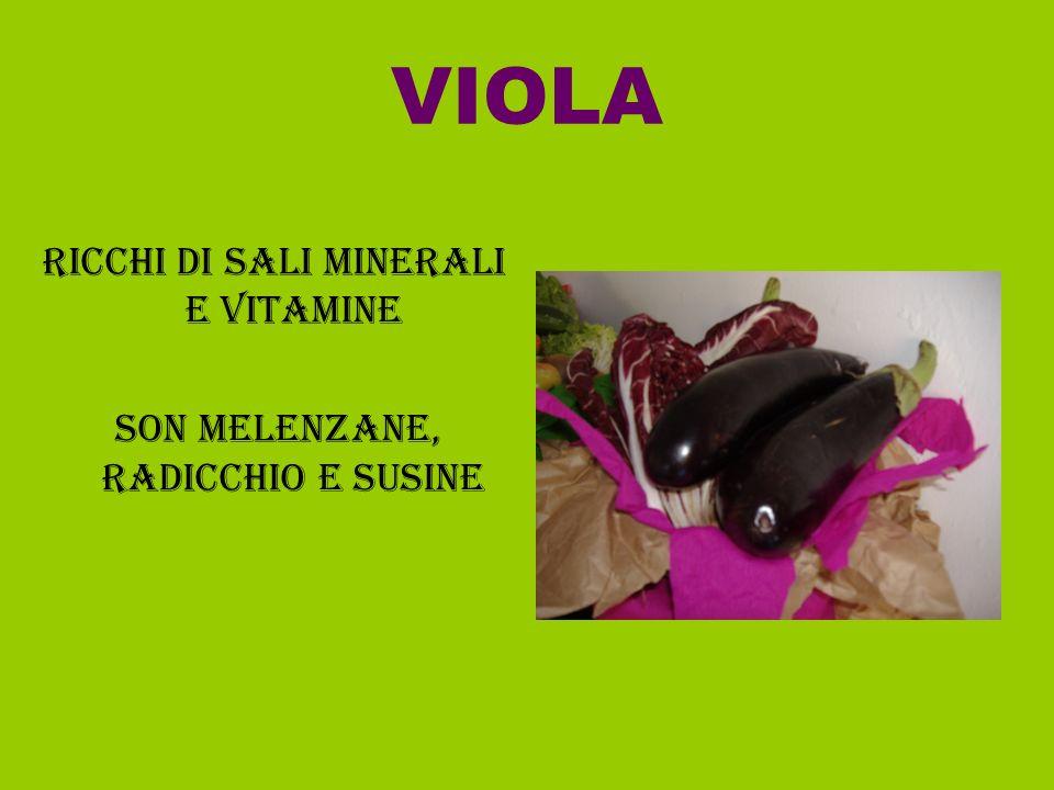 VIOLA RICCHI DI SALI MINERALI E VITAMINE SON MELENZANE, RADICCHIO E SUSINE