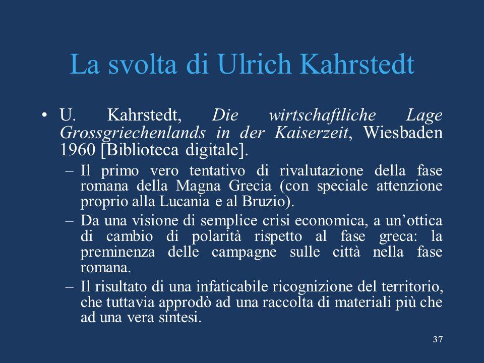 La svolta di Ulrich Kahrstedt U.