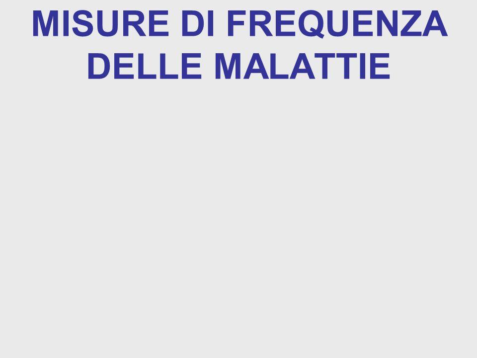 MISURE DI FREQUENZA DELLE MALATTIE