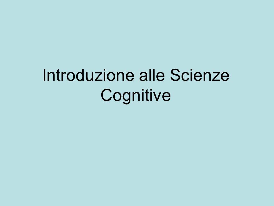 Introduzione alle Scienze Cognitive