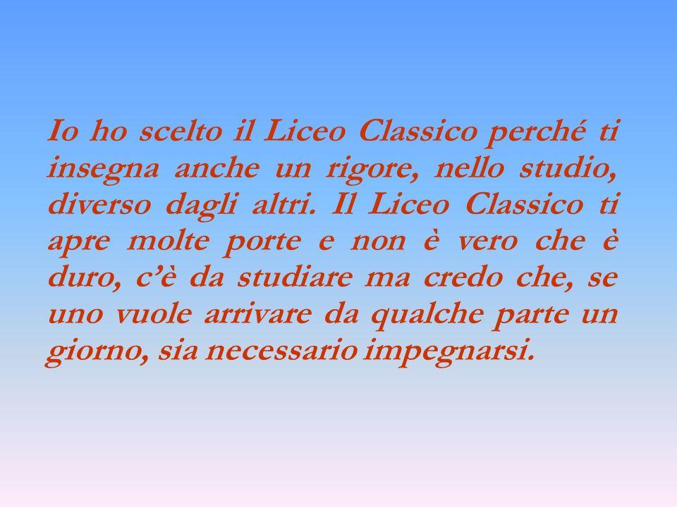 Il profilo professionale Diploma di : MATURITA CLASSICA Presso: LICEO CLASSICO (presso I.S.I.