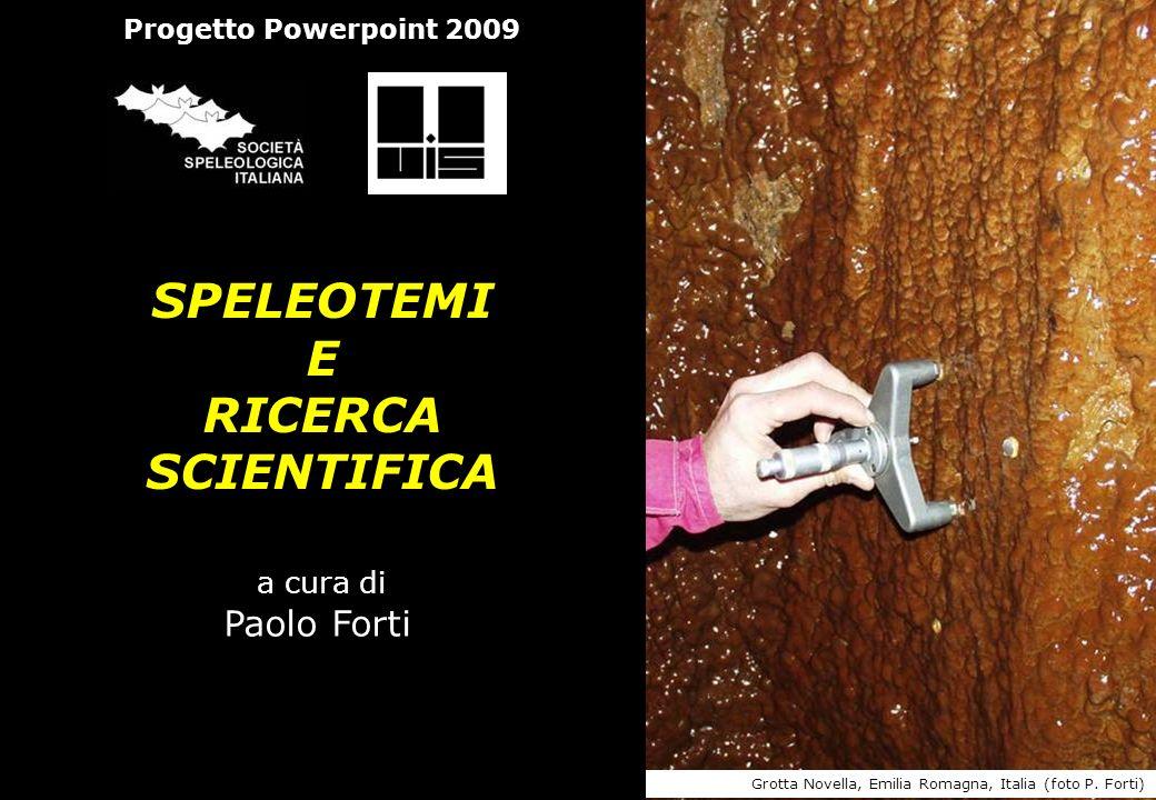 Progetto Powerpoint 2009 SPELEOTEMI E RICERCA SCIENTIFICA a cura di Paolo Forti Grotta Novella, Emilia Romagna, Italia (foto P. Forti)