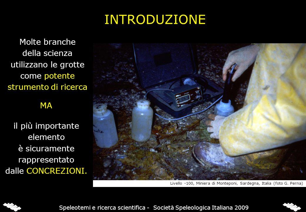 Laragonite si depositava quando la cavità non era completamente allagata con acqua termale La calcite ha iniziato a depositarsi quando lacqua meteorica ha invaso la grotta MINERALI E OSCILLAZIONE FALDA FREATICA Speleotemi e ricerca scientifica - Società Speleologica Italiana 2009