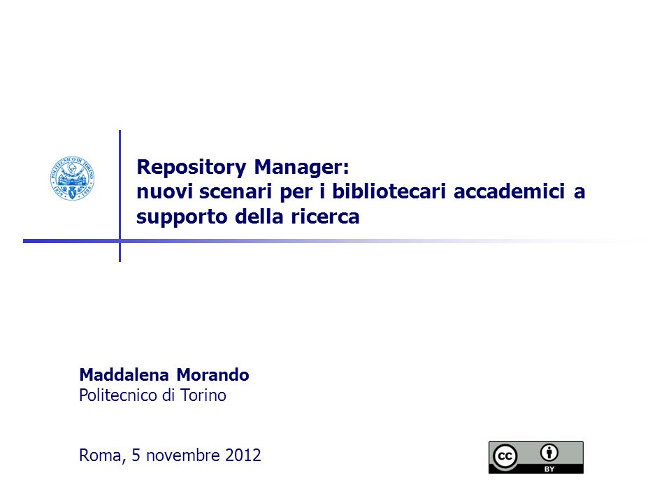 12 I focus del Repository Manager.