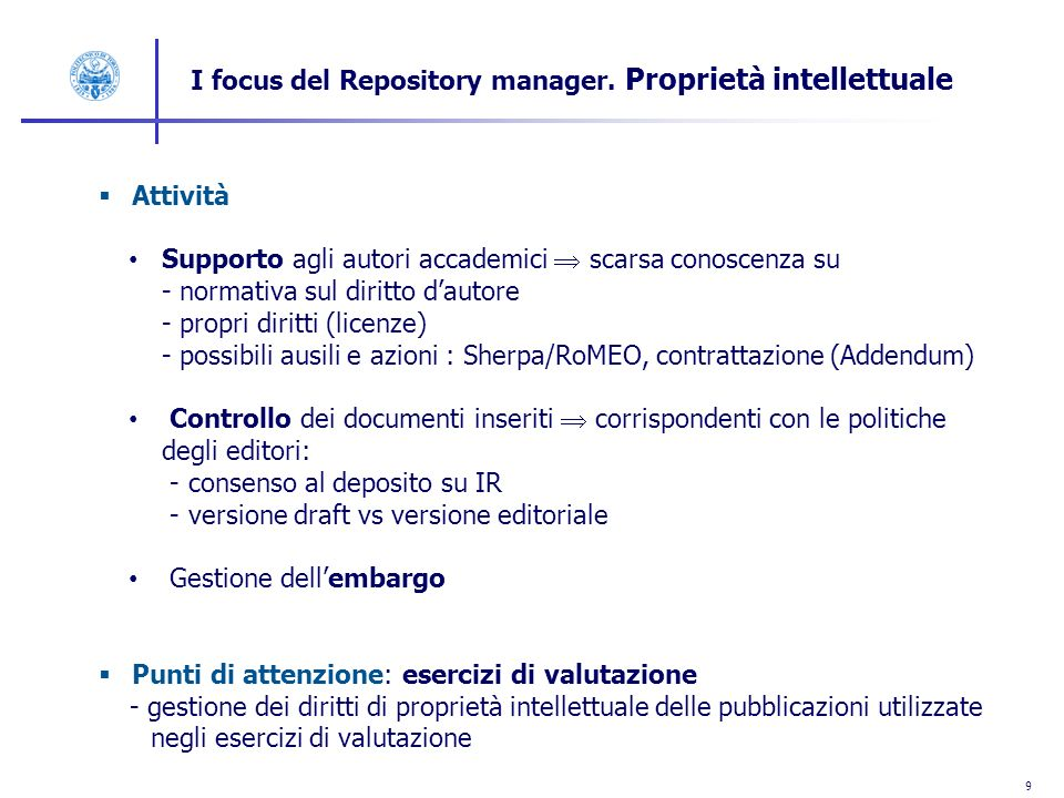 10 I focus del Repository Manager.