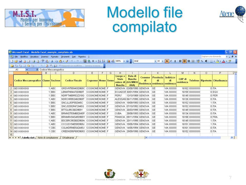 7 Modello file compilato