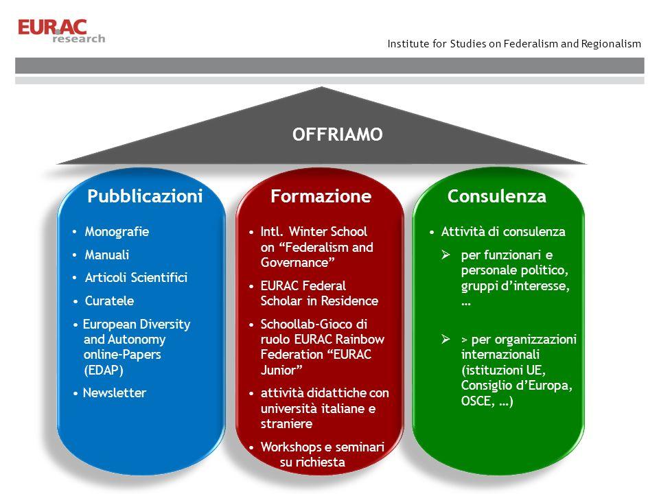 Institute for Studies on Federalism and Regionalism FormazionePubblicazioniConsulenza Attività di consulenza per funzionari e personale politico, grup